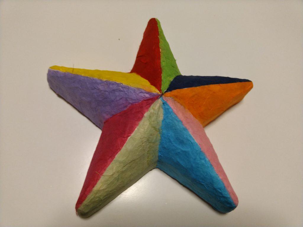 和紙素材で作る星形ランプシェード