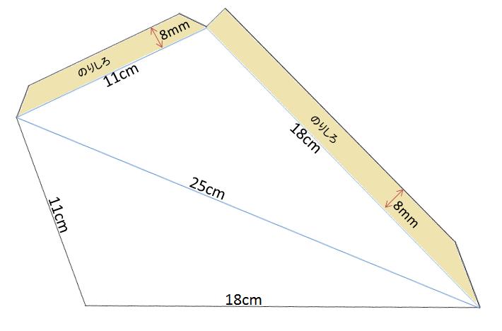 星のランプシェード(手書き用寸法)