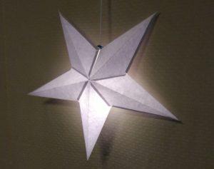 立体の星ランプシェード