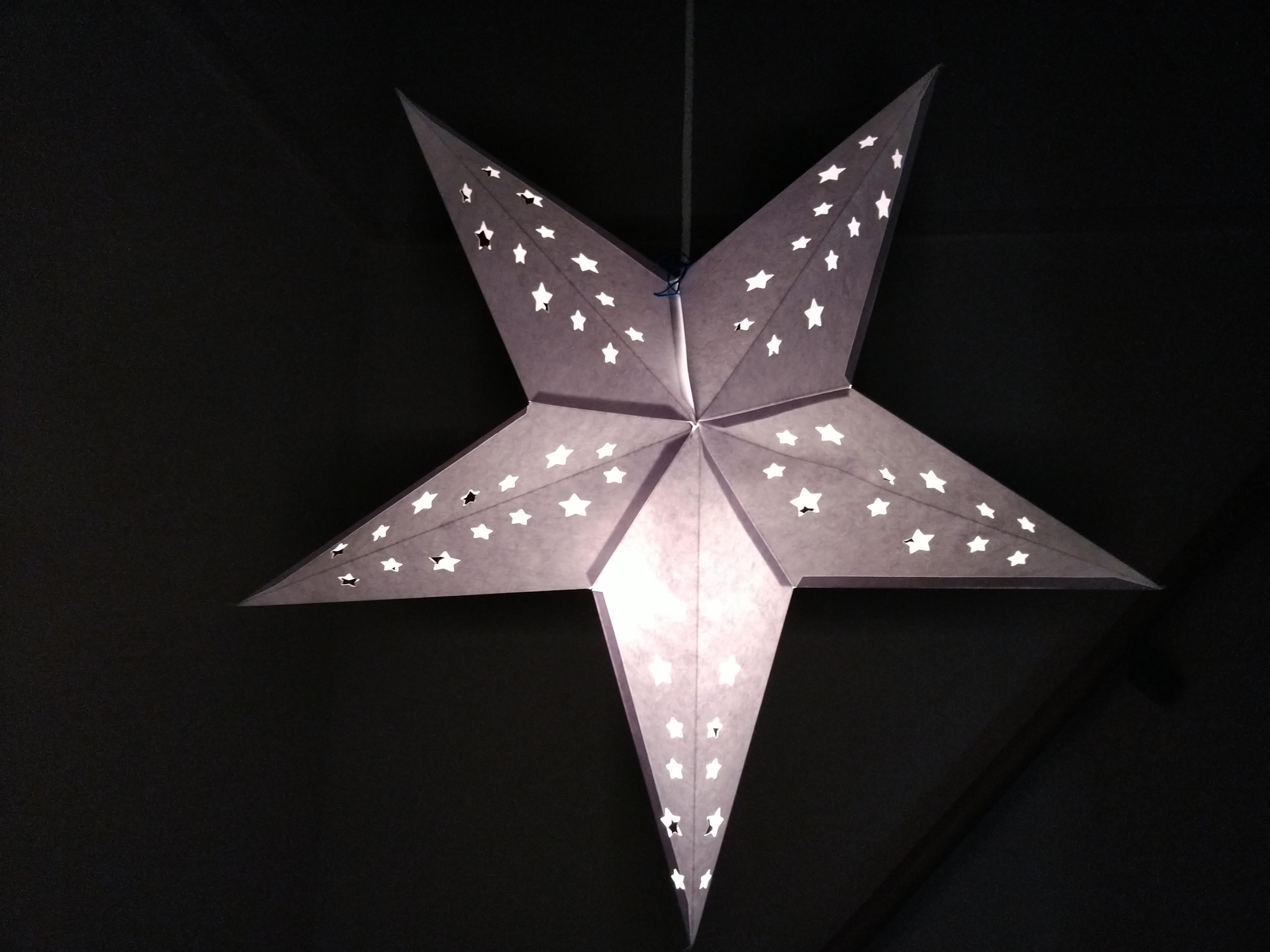 星のランプシェード手作り・星のペーパーオーナメント