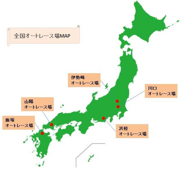 全国オートレース場map